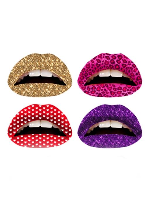 Các cô gái Mỹđã rất háo hức với loại hình xăm môi tạm thời này vì họa tiết và màu sắc ấn tượng, độc đáo của chúng. (Ảnh: Internet)