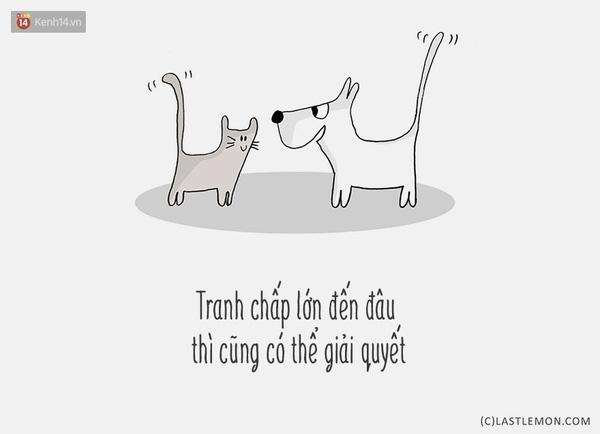 Ai bảo chó và mèo thì không làm bạn được???