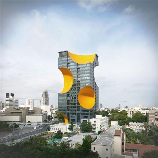Tòa nhà bình thường được thay đổi diện mạo. (Ảnh: Internet)