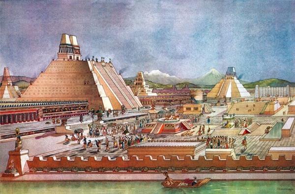 Dưới bàn tay tài hoa của các kiến trúc sư, Tenochtitlan có hệ thống các đường bờ đê và kênh rạch giúp đảm bảo lưu thông trong thành phố cũng như cung cấp nước sạch cho người dân sử dụng hàng ngày.