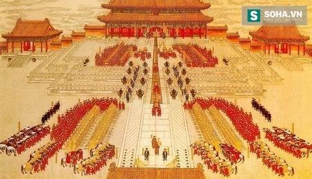 Hình ảnh mô phỏng cung đình Thanh triều.