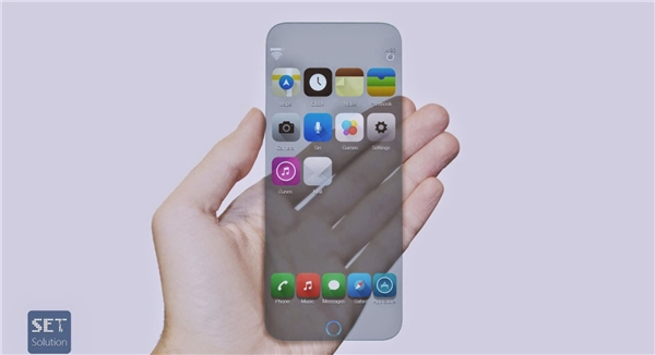 Thiết kế Iphone 7 trong suốt. (Ảnh: Internet)