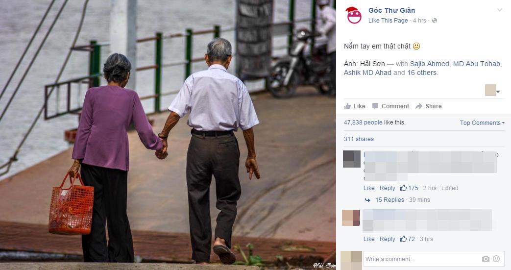 Một trang mạng xã hội nổi tiếng đăng tải hình ảnh đẹp này.(Ảnh: Chụp FB)