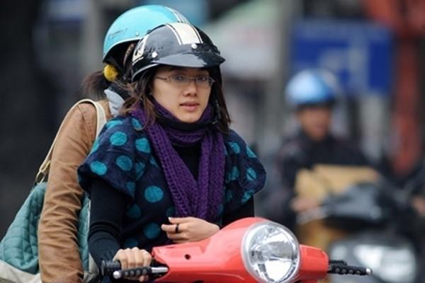 Nhiệt độ ở Hà Nội chỉ còn khoảng 10độ C. Ảnh: Internet