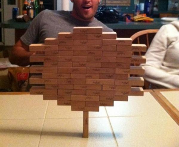Trò chơi xếpgỗ đã trở thành một tác phẩm nghệ thuật. (Ảnh: Internet)