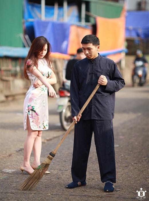 """Nhiều cư dân mạng cho rằng những động tác của anh chàng """"Diệp Vấn phiên bản Việt"""" này rõ ràng là không """"đủ cân, đủ sức""""...(Ảnh: Đỗ Xuân Bút)"""