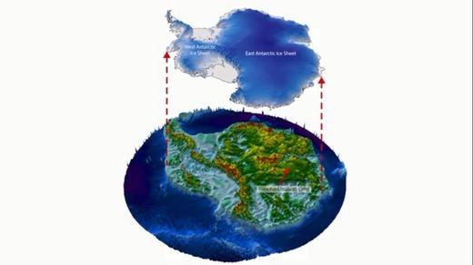 Phía dưới lớp băng Nam cực từng có rừng núi, là nơi con người sinh sống? (Ảnh: Internet)