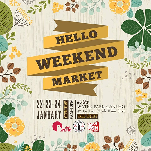 Rộn ràng phiên chợ Hello Weekend Market cuối năm tại Cần Thơ