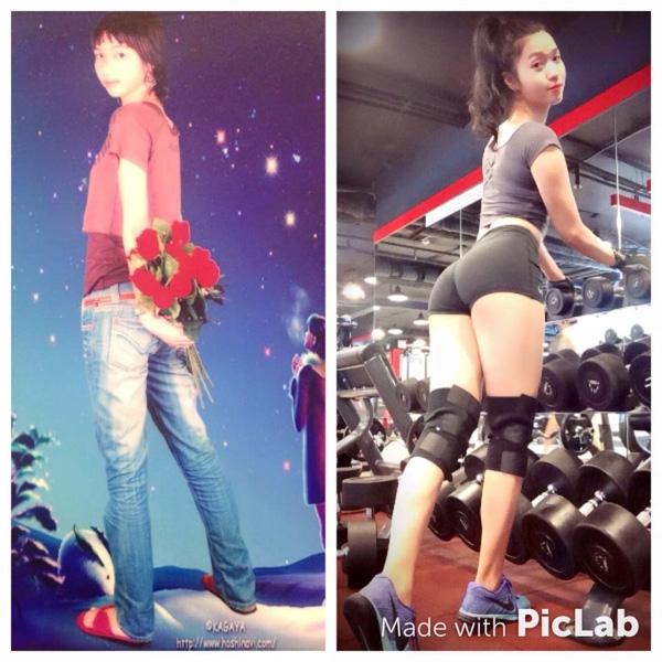 Trang Miu trước và sau khi tập luyện