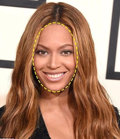 Beyonce có gương mặt hình trái xoan. (Ảnh: Internet)