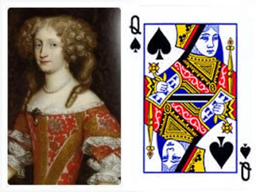 Nữ hoàngEleanor chính là đại diện của quân đầm bích. (Ảnh:Internet)