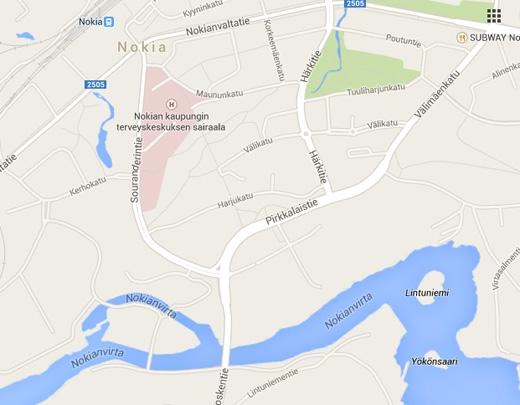 Bản đồ nơi thành lập Nokia.(Ảnh: Internet)
