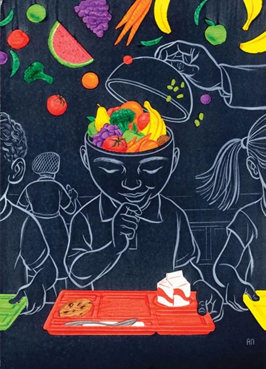 Giáo dục cho trẻ nhỏ tầm quan trọng của việc ăn rau xanh là rất cần thiết. (Ảnh: Alex Nabaum)
