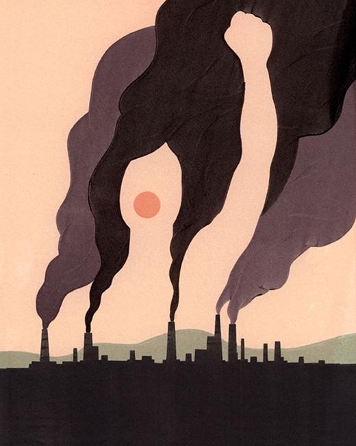 Khói bụi từ các nhà máy đang hủy hoại bầu không khí. Tất cả những gì chúng ta cần làm là cất lên tiếng nói. (Ảnh: Alex Nabaum)