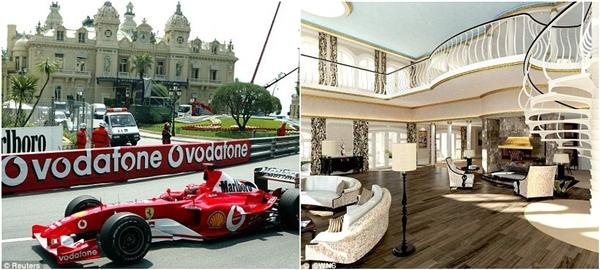"""Một số công trình nổi tiếng của Monaco như sòng bạc Monte Carlo, khách sạn Hotel de Paris, Café de Paris, quán bar La Rascasse, khách sạn Loews… cũng được """"mang"""" lên siêu du thuyền này.(Ảnh: Daily Mail)"""