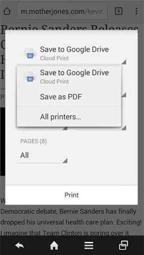 Để lưu trang web thành PDF trênAndroid, bạn phải trải qua nhiều bước.(Ảnh: Internet)