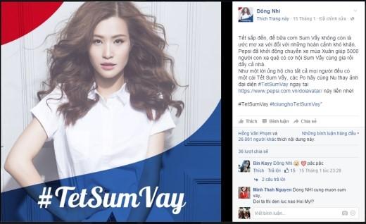 """Đông Nhi """"khởi xướng"""" trào lưu đổi ảnh đại diện để ủng hộ #TetSumVay."""