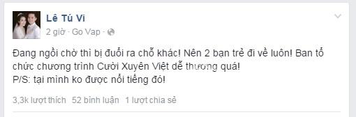 Hé lộ lí do Tú Vi, Văn Anh bị mời khỏi ghế nghệ sĩ tại Cười xuyên Việt - Tin sao Viet - Tin tuc sao Viet - Scandal sao Viet - Tin tuc cua Sao - Tin cua Sao