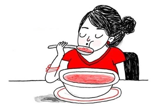"""Có một nguyên tắc """"ngầm"""" mà không phải ai cũng biết và cũng để ý đến đó là người Mỹ thường không bao giờ thổi thức ăn cho nguội trước khi ăn. (Ảnh: Internet)"""