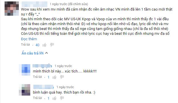 Trong số những bình luận khen ngợi MV trên Youtube, không ít bình luận xuất phát từ nước bạn như Cam-pu-chia, Thái Lan và đặc biệt là không thể thiếu người hâm mộ tại đất nước của người bạn diễn điển trai Nyle. - Tin sao Viet - Tin tuc sao Viet - Scandal sao Viet - Tin tuc cua Sao - Tin cua Sao