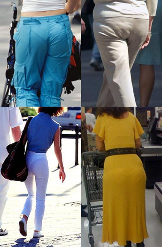 """Kết hợp quần lót có đường viền quá nổi và váy hay quần ngoài quá mỏng sẽ là """"thảm họa"""".(Ảnh: Internet)"""