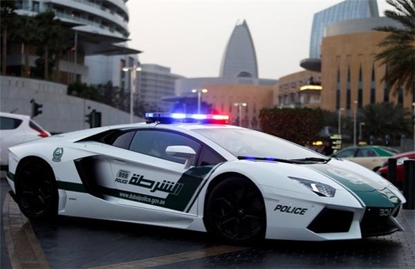 Ở Dubai, người trung lưu chủ yếu di chuyển bằng siêu xe. Thậm chí xe cảnh sát cũng là siêu xe. (Ảnh: Internet)