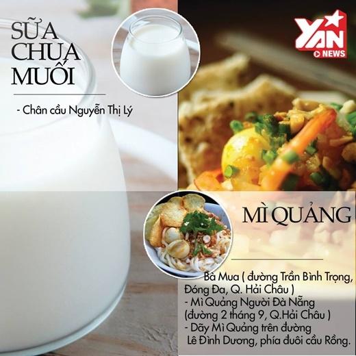 Mì Quảng vớinước lèo đậm đà là món ngon phổ biến ở thành phố biển xinh đẹp này.