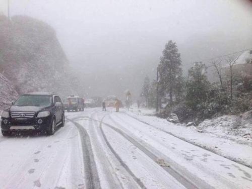 Từ 17 giờ chiều nay, tuyết có thể rơi ở Sa Pa. Ảnh: internet