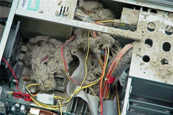 Bụi bẩn bám trong các thiết bị điện là một mối đe dọa. (Ảnh: Internet)