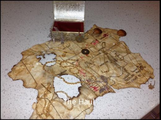 """Tấm bản đồ cùng """"kho báu huyền thoại"""" mà gia đình sẽ không bao giờ quên. (Ảnh: Internet)"""