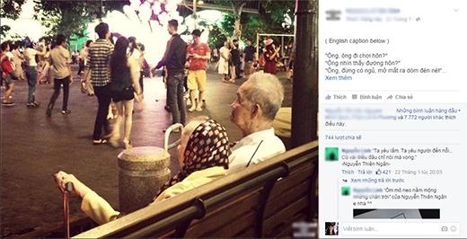 Bức ảnh tràn yêu thương của đôi vợ chồng già đốn tim cư dân mạng