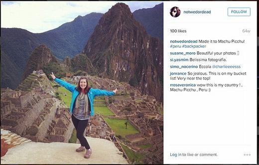 Những nơi đã đi qua, Katy đều ghi lại và đăng lên blog và Instagram. (Ảnh: chụp màn hình)