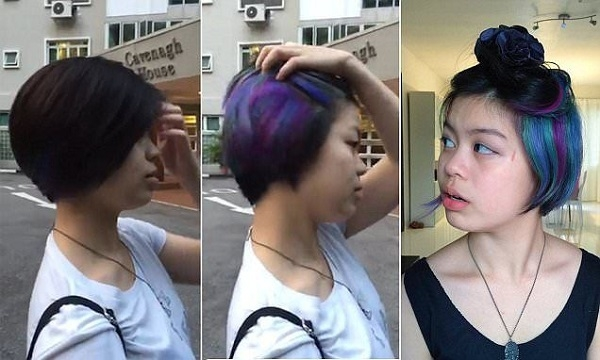 Mốt nhuộm tóc giấu màu khởi nguồn từ Nhật Bản nhưng đã trở nên vô cùng đình đámkhi được Jaye - một cô gái người Hàn Quốc -lăng xê.(Ảnh: Internet)