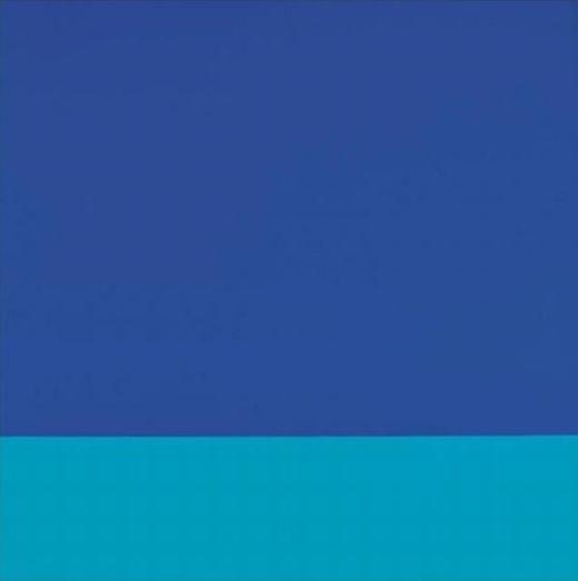 """Bức """"Stoffbild"""" của họa sĩ thiên tài Blinky Palermo được bán với giá 1,7 triệu USD(khoảng38 tỉ đồng)."""