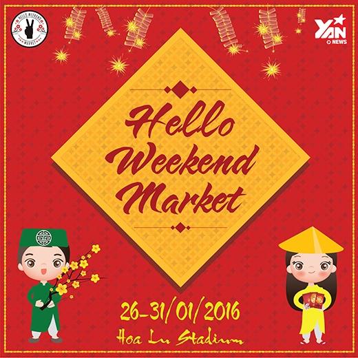 """Hello Weekend Market với chủ đề """"Tết xưa - Tết nay""""."""