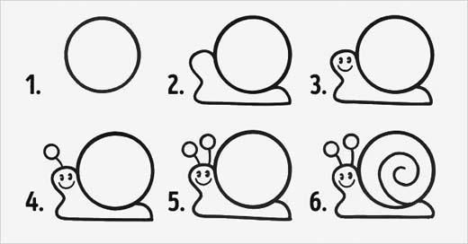 Mọi hình vẽ đều bắt đầu bằng hình tròn để đảm bảo cân đối cho con vật.(Ảnh: Internet)