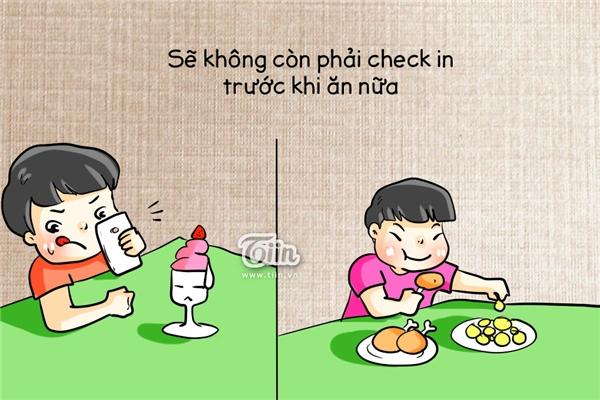 Sẽ không còn dằn cơn đói để check-in trước khi ăn, nhào vô ăn thôi.