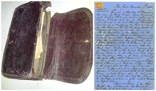 Chiếc ví sờn cũ cùng lá thư từ 60 năm trước (Ảnh: Internet)