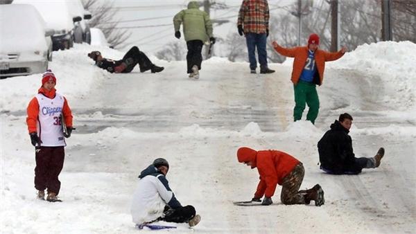 Nước Mỹ chìm trong băng tuyết. Ảnh: Internet