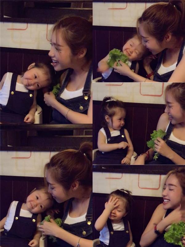 Những biểu cảm cực đáng yêu của Cadie bên cạnh mẹ. - Tin sao Viet - Tin tuc sao Viet - Scandal sao Viet - Tin tuc cua Sao - Tin cua Sao