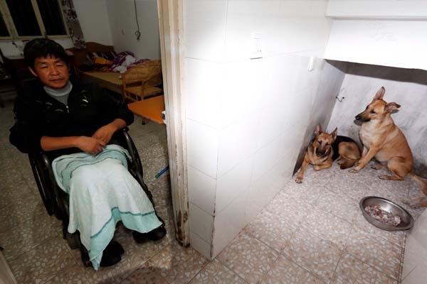 Vì bố mẹ đã qua đời, hai chị gái đi lấy chồng, căn phòng tập thể nhỏ chỉ còn Phương Kiến Quốc cùng đôi chó. Góc nhỏ thuộc về riêng chúng nằm ngay ngoài cửa, thuận tiện cho việc giữ nhà.