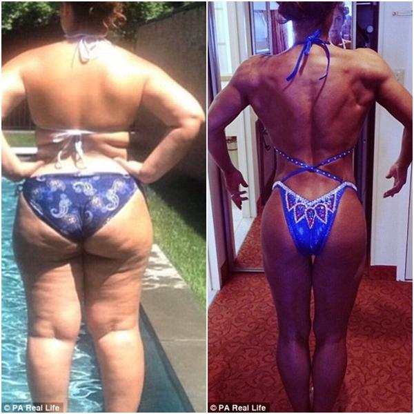 Từng là một người ăn 5000 calo socola mỗi ngày, Nathalia đã giảm cân thành công và trở thành một vận động viên thể hình.