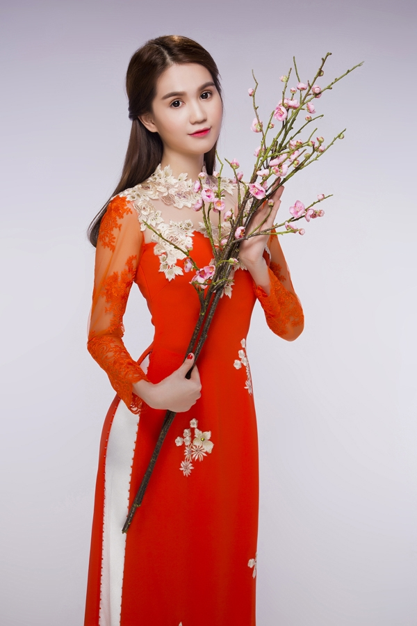 Trong năm 2015 vừa qua, Ngọc Trinh đã trở thành người mẫu đại diện cho nhiều game trực tuyến cũng như các hợp đồng quảng cáo. Những hình ảnh này như mộn món người hâm mộ quà tặng đến trong dịp Tết đến Xuân về.