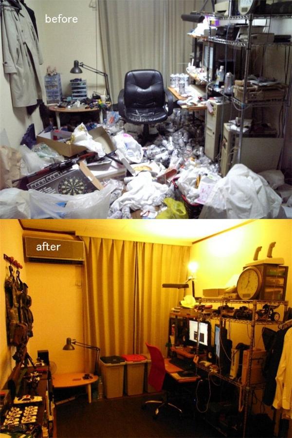 Đây là nỗ lực thành công của một blogger khác. Căn phòng dường như đã lột xác sau khi được dọn dẹp sạch sẽ.
