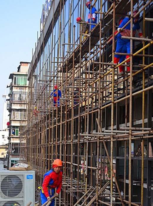 Công trình trên chính là dự án đường sắt mới nhất của tỉnh Hồ Bắc. (Ảnh: Chinanews.com)