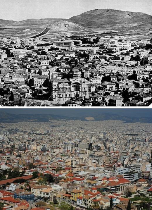 Athens, Hy Lạp (1860 - 2014) (Ảnh: Bright Side)