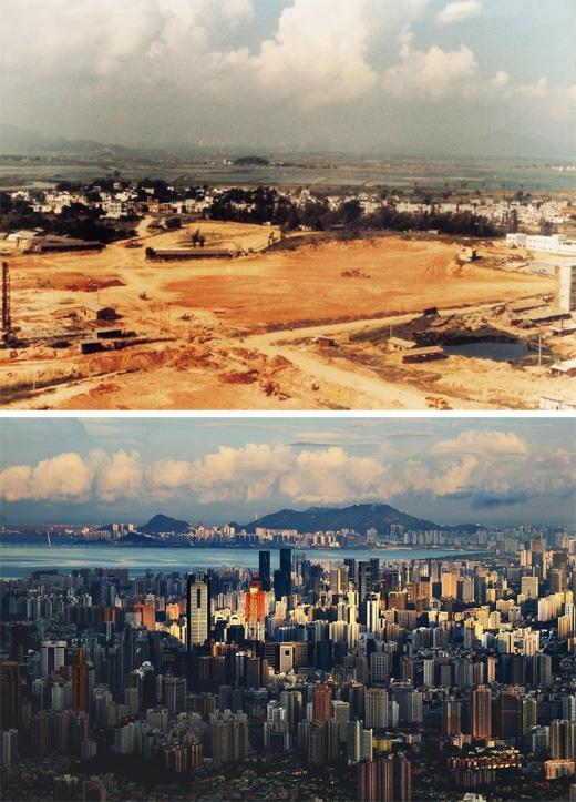Thâm Quyến, Trung Quốc (1982 - 2010)(Ảnh: Bright Side)