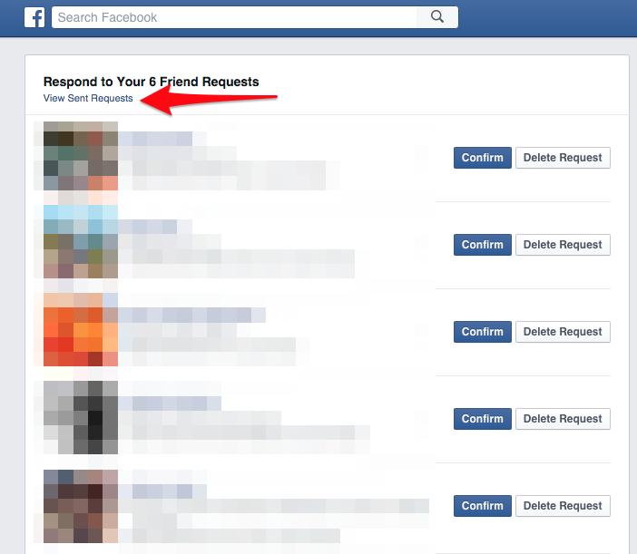 """Một giao diện mới hiện ra. Lúc này, bạn sẽ nhìn thấy phía dưới dòng chữ """"Trả lời... lời mời kết bạn của bạn"""" (Respond to Your ... Friends Requests) là một dòng nhỏ khác """"Xem các lời mời đã gửi"""" (View Sent Requests). (Ảnh: Tech Insider)"""