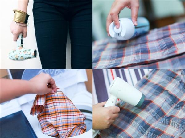 Dùng máy sấy hong khô quần áo. (Ảnh: Internet)