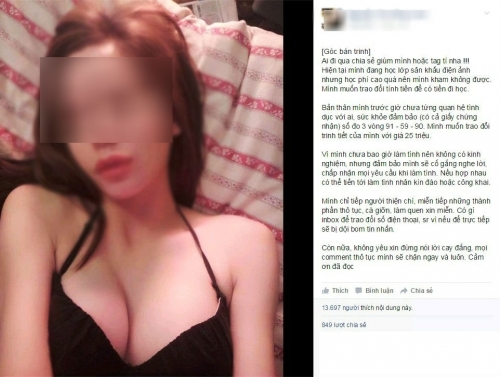 Nguyên văn dòng chia sẻ của cô gái trên mạng xã hội.